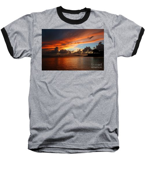 Garita En Atardecer Baseball T-Shirt