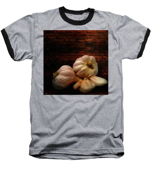 Garlic Baseball T-Shirt by Lourry Legarde