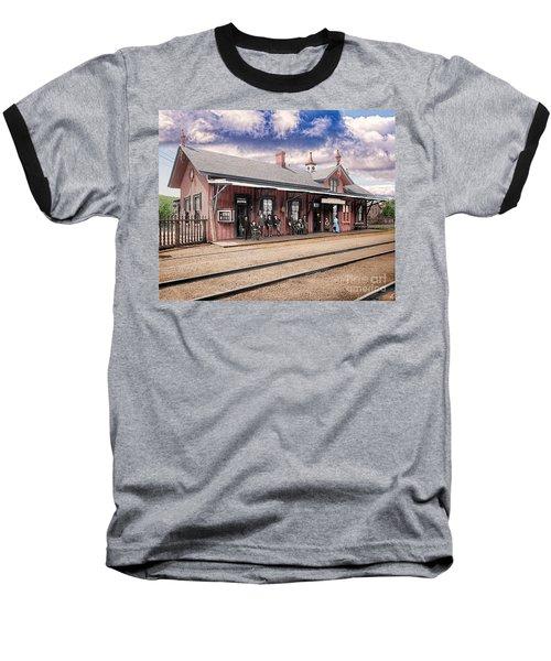 Garrison Train Station Colorized Baseball T-Shirt