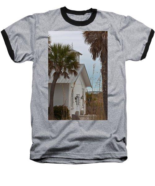 Baseball T-Shirt featuring the photograph Gasparilla Island State Park Chapel by Ed Gleichman