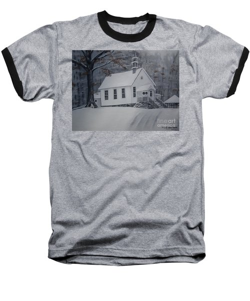 Gates Chapel - Ellijay - Signed By Artist Baseball T-Shirt