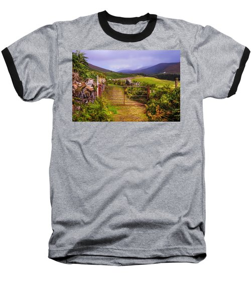 Gates On The Road. Wicklow Hills. Ireland Baseball T-Shirt by Jenny Rainbow