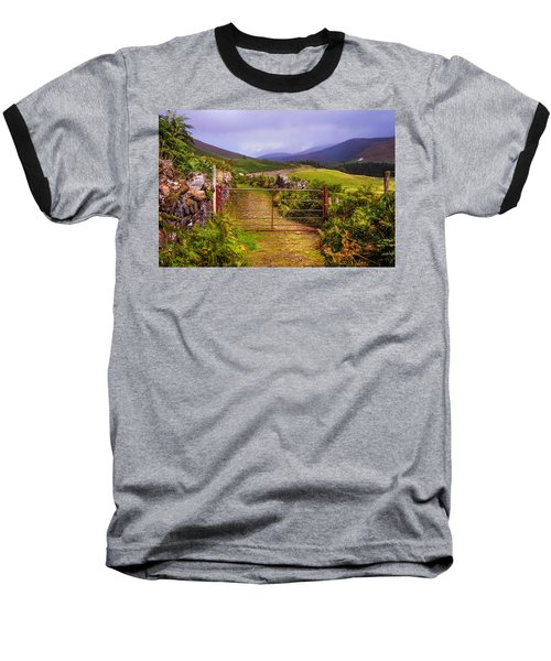 Gates On The Road. Wicklow Hills. Ireland Baseball T-Shirt