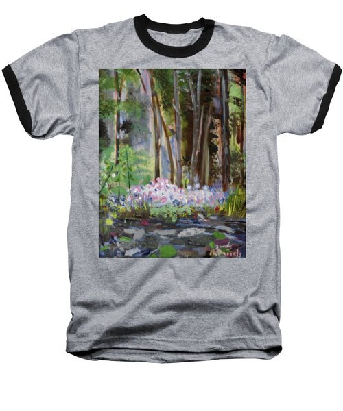 Baseball T-Shirt featuring the painting Gateway At The Balsams by Michael Daniels