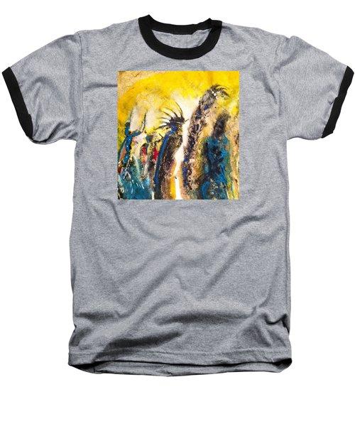 Gathering 2 Baseball T-Shirt by Kicking Bear  Productions