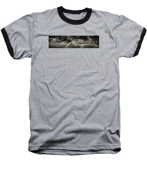 Gathering Black And White Baseball T-Shirt