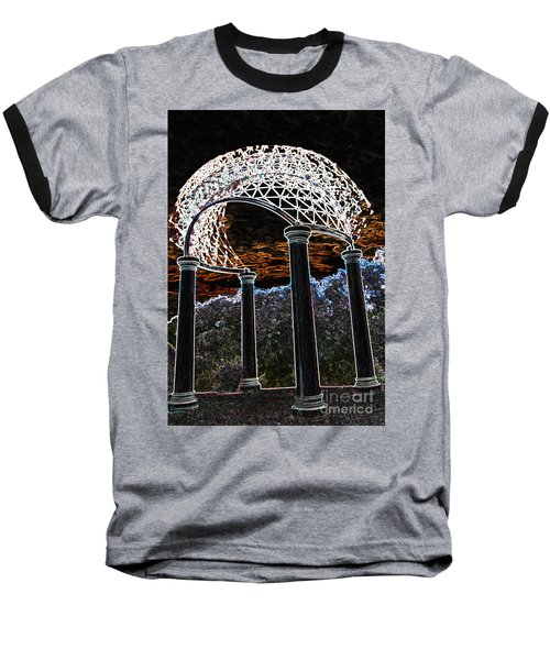 Gazebo 1 Baseball T-Shirt by Minnie Lippiatt