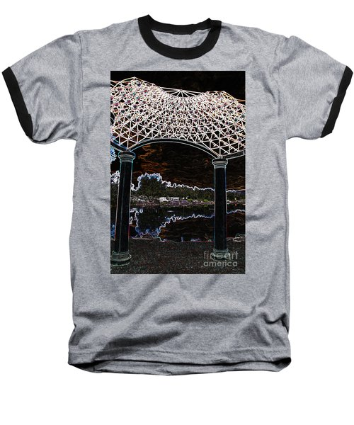 Gazebo 2 Baseball T-Shirt by Minnie Lippiatt