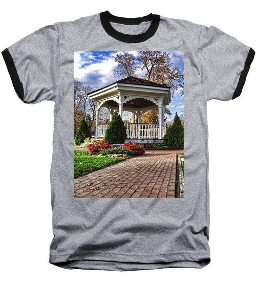 Gazebo At Olmsted Falls - 3 Baseball T-Shirt