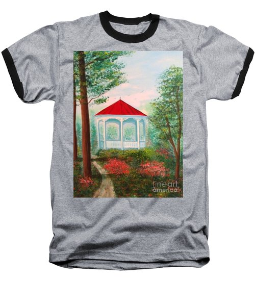 Gazebo Dream Baseball T-Shirt by Becky Lupe