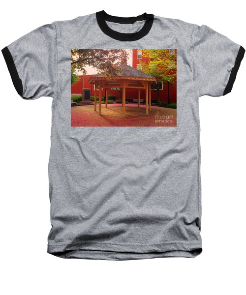 Baseball T-Shirt featuring the photograph Gazebo In Pink by Becky Lupe