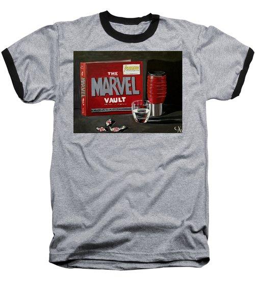 Marvel Comic's Still Life Acrylic Painting Art Baseball T-Shirt