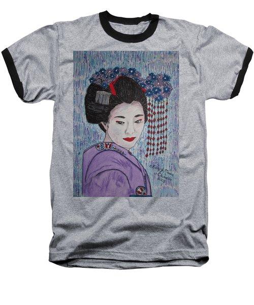 Geisha Girl Baseball T-Shirt by Kathy Marrs Chandler