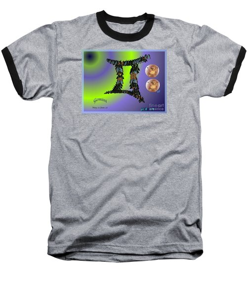 Baseball T-Shirt featuring the digital art Gemini by The Art of Alice Terrill
