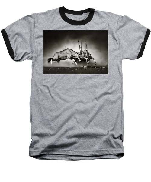 Gemsbok Fight Baseball T-Shirt