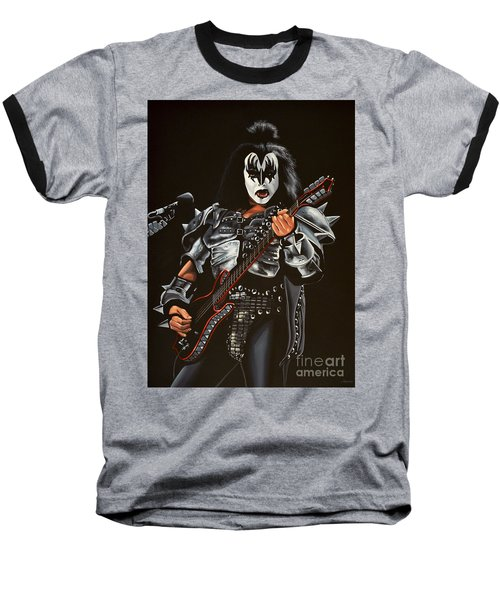 Gene Simmons Of Kiss Baseball T-Shirt