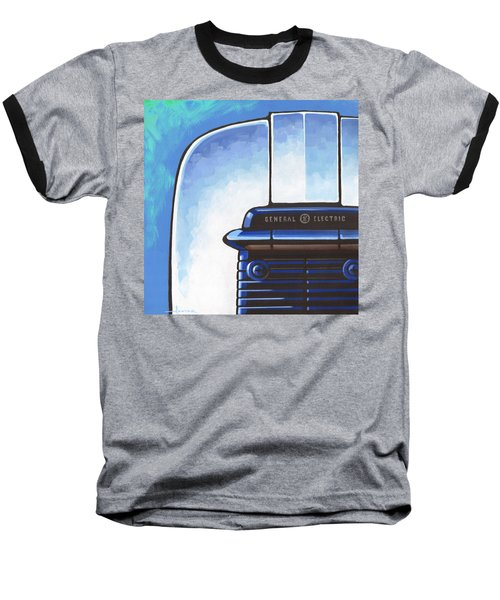General Electric Toaster - Blue Baseball T-Shirt