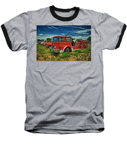 Baseball T-Shirt featuring the photograph Generations Of Fire Fighting Equipment by Ken Smith