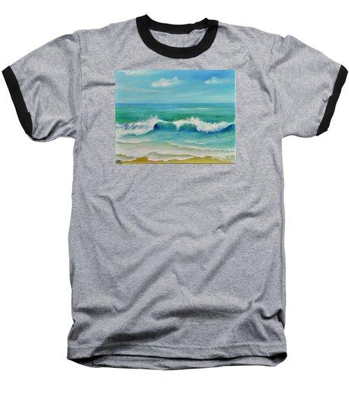 Gentle Breeze Baseball T-Shirt by Teresa Wegrzyn