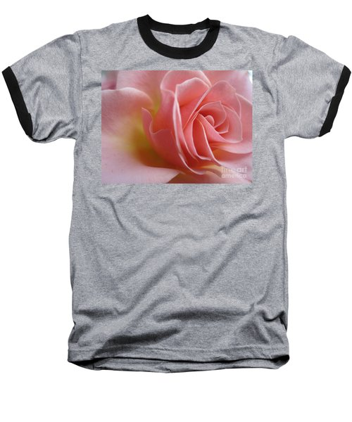 Gentle Pink Rose Baseball T-Shirt