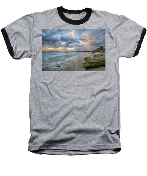 Gentle Sunset Baseball T-Shirt by Peter Tellone