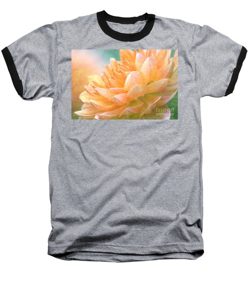 Gently Textured Dahlia  Baseball T-Shirt