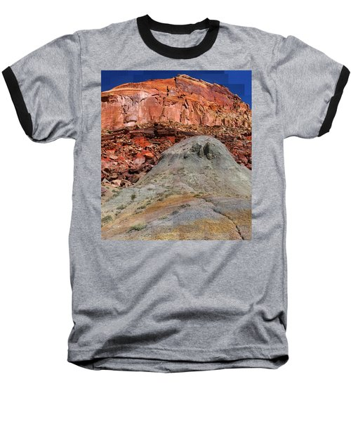 Geology Triptych - One Baseball T-Shirt