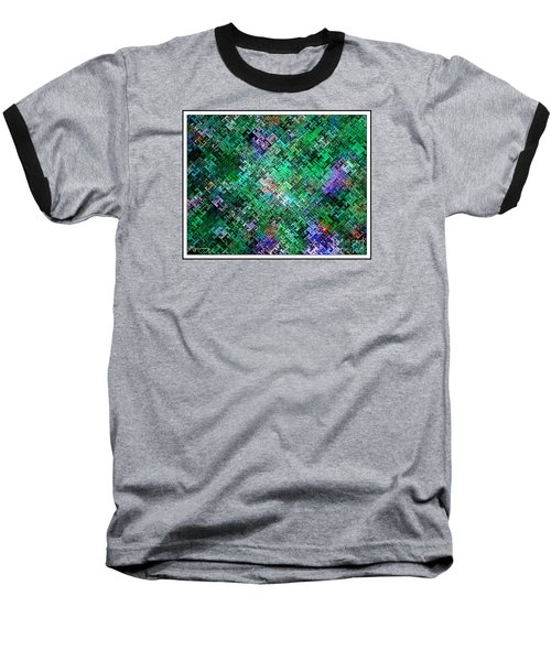 Baseball T-Shirt featuring the digital art Geometric Abstract by Mariarosa Rockefeller