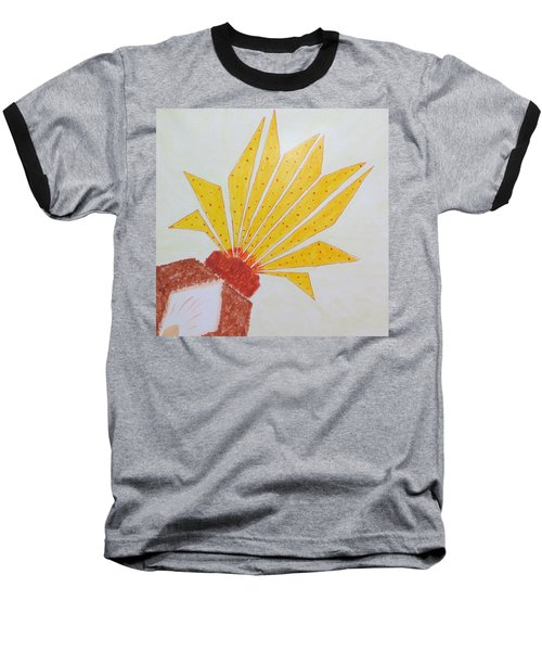 Geometric Blooming Lotus Baseball T-Shirt