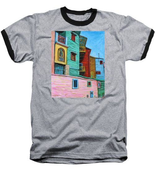 Geometric Colours II Baseball T-Shirt by Xueling Zou