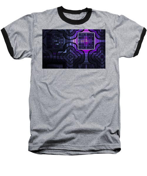 Baseball T-Shirt featuring the digital art Geometric Stained Glass by GJ Blackman