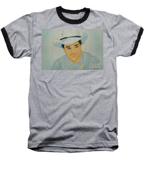 Baseball T-Shirt featuring the painting George by Marisela Mungia