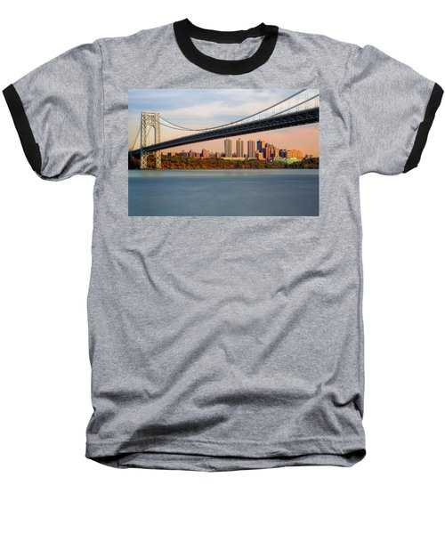 George Washington Bridge In Autumn Baseball T-Shirt
