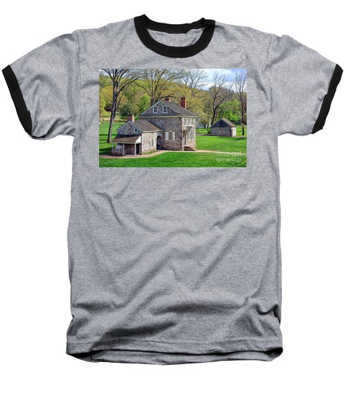 George Washington Headquarters At Valley Forge Baseball T-Shirt