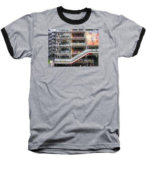 Georges Pompidou Centre Baseball T-Shirt by Oleg Zavarzin