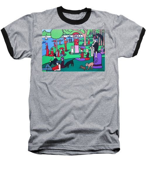 George Seurat- A Cyclops Sunday Afternoon On The Island Of La Grande Jatte Baseball T-Shirt
