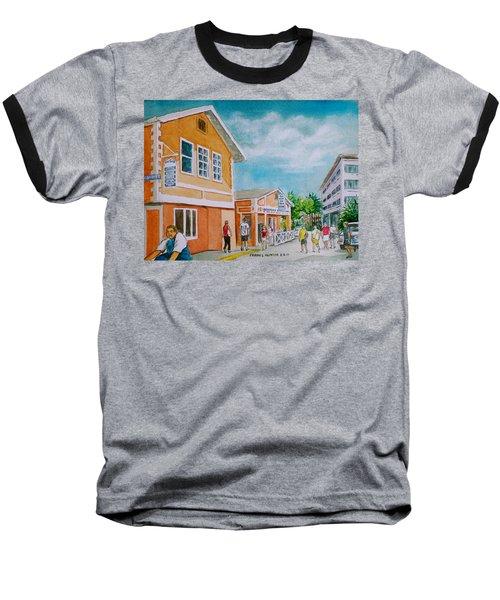 Georgetown Grand Cayman Baseball T-Shirt by Frank Hunter