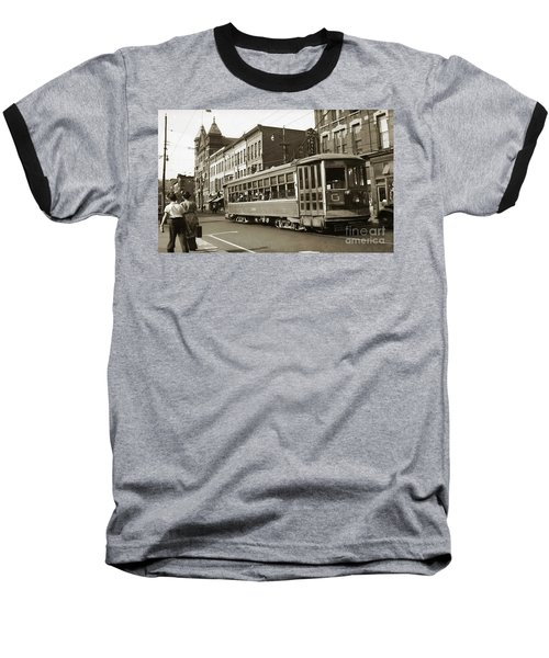 Georgetown Trolley E Market St Wilkes Barre Pa By City Hall Mid 1900s Baseball T-Shirt