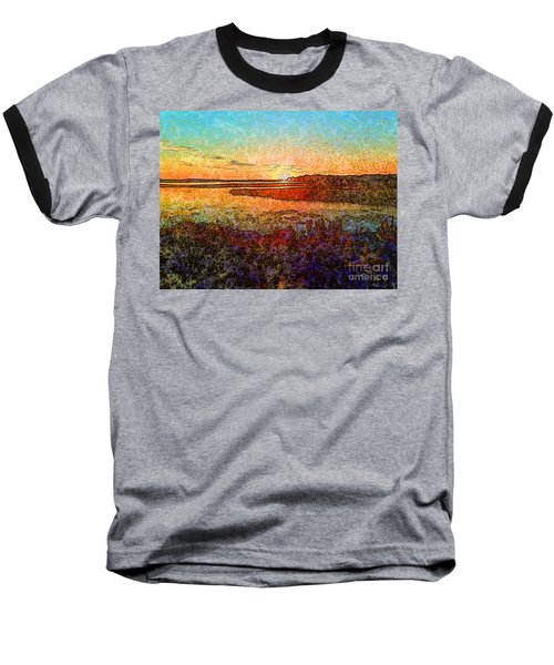 Georgian Bay Sunset Baseball T-Shirt