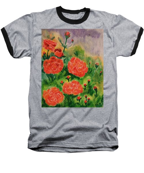 Baseball T-Shirt featuring the painting Geraniums by Christy Saunders Church