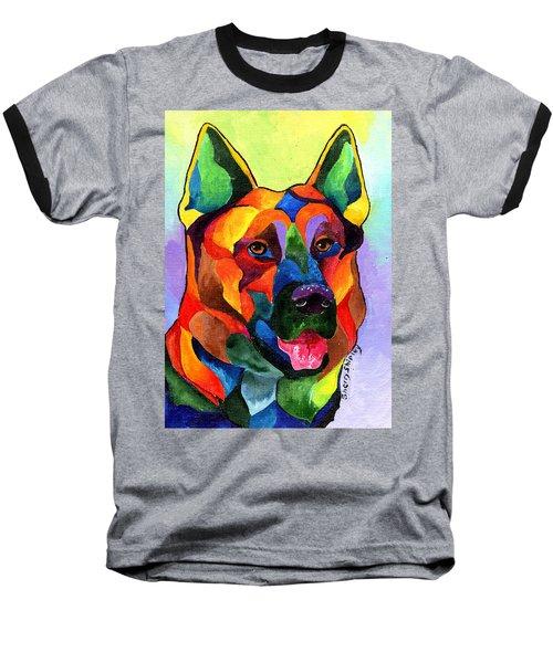 German Shepherd Baseball T-Shirt by Sherry Shipley