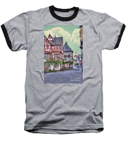 German Village Along Rhine River Baseball T-Shirt