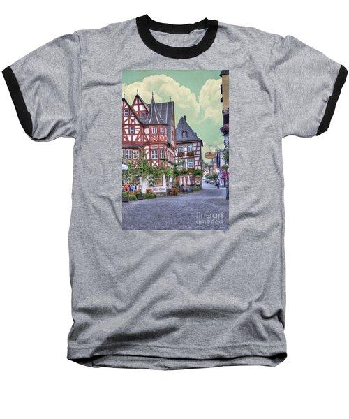 German Village Along Rhine River Baseball T-Shirt
