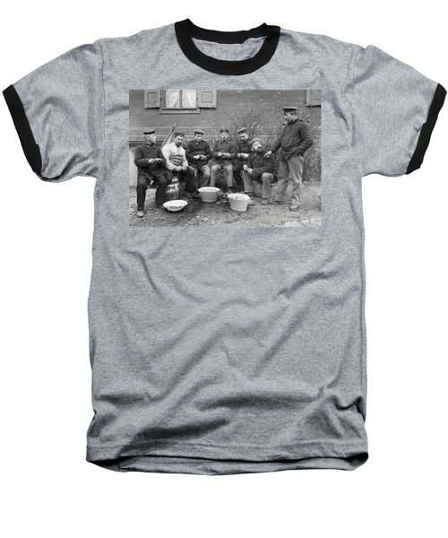 Germans Peeling Potatoes Baseball T-Shirt by Underwood Archives