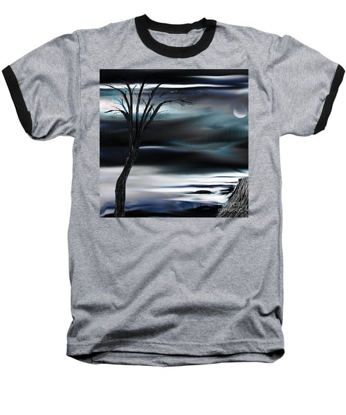 Baseball T-Shirt featuring the painting Get Back To Serenity by Yul Olaivar