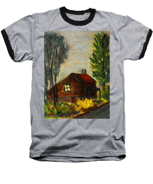 Baseball T-Shirt featuring the painting Getting Home At Twilight by Michael Daniels