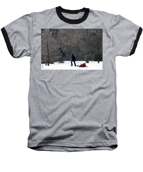 Baseball T-Shirt featuring the photograph Getty-up Daddy by Kay Novy