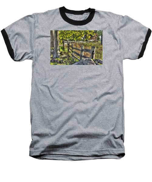 Baseball T-Shirt featuring the photograph Gettysburg At Rest - Late Summer Along The J. Weikert Farm Lane by Michael Mazaika
