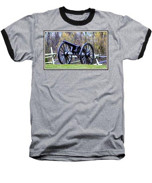 Baseball T-Shirt featuring the photograph Gettysburg Battlefield Cannon by Patti Whitten