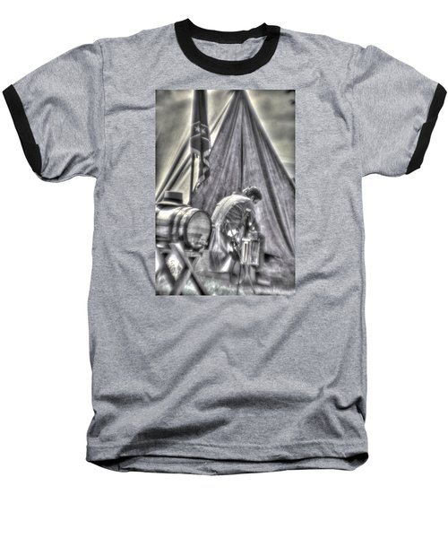 Baseball T-Shirt featuring the photograph Gettysburg In The Camp - Counting The Losses by Michael Mazaika